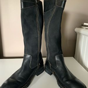 Woman's leather & suede riding boots